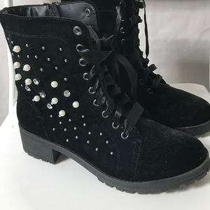 Madden Girl studded combat boots.